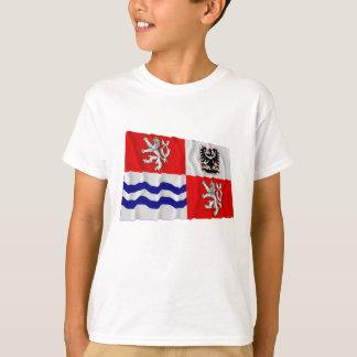 Zentrale wellenartig bewegende Flagge Böhmens T-Shirt