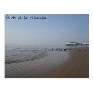 Zentraler Pier und Strand Blackpools Postkarte