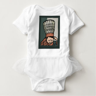 Zentrales asiatisches Frauen-Denken (im Hut) Baby Strampler