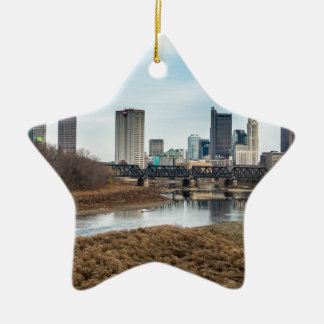 Zentrales Geschäftsgebiet Columbus, Ohio Keramik Stern-Ornament