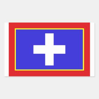 zentrales Griechenland-Flaggenland-Regionssymbol Rechteckiger Aufkleber