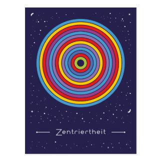 Zentriertheit Postkarte