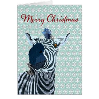 Zenya blauer u. weißer Schneeflocke-Weihnachtsgruß Karte