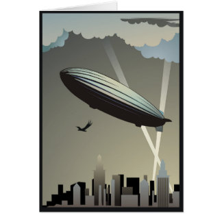 Zeppelin-Skyline-Gruß-Karte Grußkarte