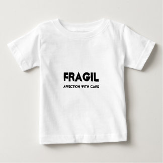 ZERBRECHLICH, affection with care Baby T-shirt