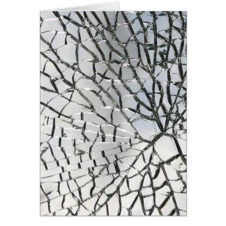 Zerbrochene Glasbeschaffenheit Karte