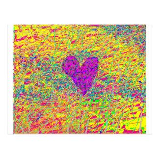 Zerbrochene Herzen Postkarte