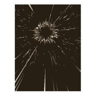 zerbrochenes Glas Postkarte