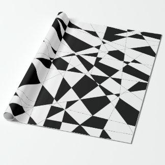 Zerbrochenes Leben in Schwarzem u. im Weiß Einpackpapier