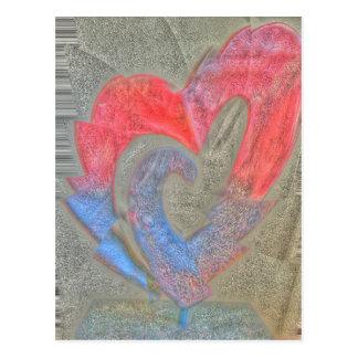Zerbrochenes wildes Herz Postkarte