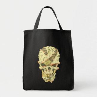 zerfallender Schädel Totenkopf rotten skull Tragetasche