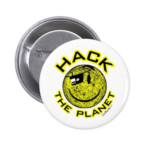 Zerhacken Sie den Planeten Runder Button 5,7 Cm