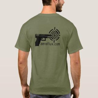 Zeroflux Aktions-Schießen-Logo überwunden T-Shirt