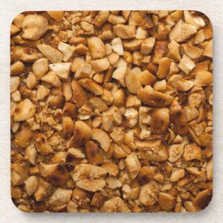 Zerquetschte gebratene Erdnüsse Getränkeuntersetzer