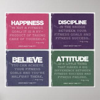 Zerrissen für Fitness-Erfolg Poster
