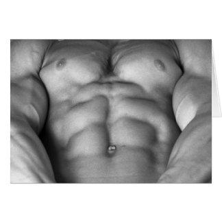 Zerrissener Bodybuilder u. Fitness-vorbildlicher Karte