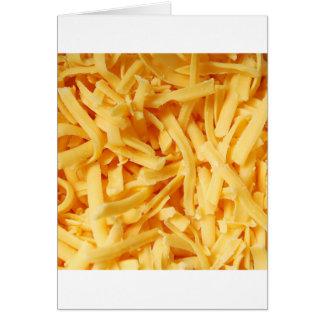 Zerrissener Cheddar-Käse Karte