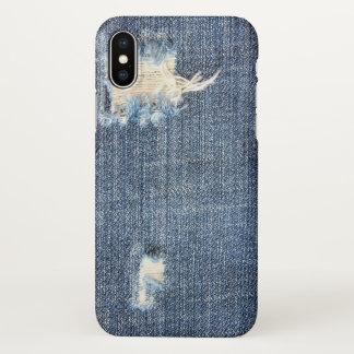 Zerrissener Jeans-Blick iPhone X Hülle