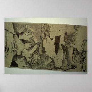Zersplittert d'Arts Detail-Rolle durch Pascale Poster