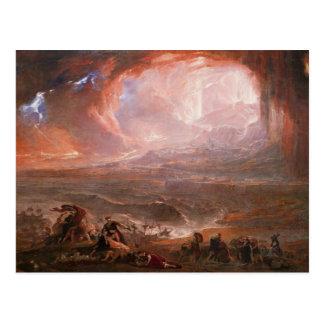 Zerstörung von Pompeji und von Herculaneum Postkarte