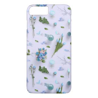 Zerstreute Blumen blau iPhone 8 Plus/7 Plus Hülle