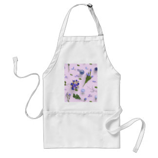 Zerstreute Blumen lila Schürze