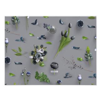 Zerstreutes Blumen-Schwarzes Fotos
