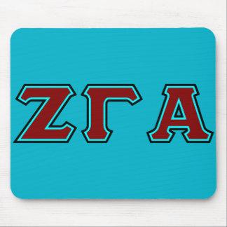 Zeta-Gamma-Alpha mit Buchstaben gekennzeichnete Mauspads