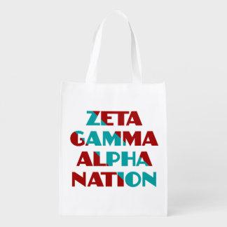 Zeta-Gamma-Alphanations-Einkaufstasche Wiederverwendbare Tragetasche