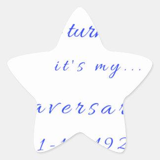 Zetaversary Stern-Aufkleber