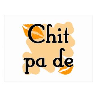 Zettel-PAde - Birmane - i-Liebe Sie (3) orange Postkarte