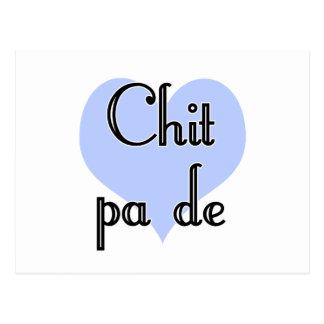Zettel-PAde - Birmane - i-Liebe Sie (4) blaues Postkarte