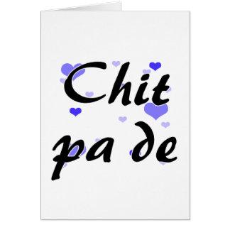 Zettel-PAde - Birmane - i-Liebe Sie blaues Karte