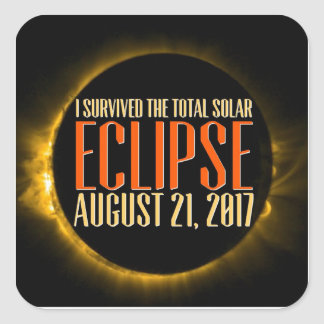 Zeugen Sie die Eklipse in ihr sind Gesamtheit? Quadratischer Aufkleber