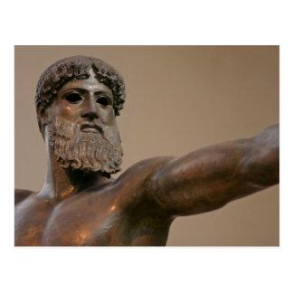 Zeusbronzestatue in Athen Griechenland Postkarte