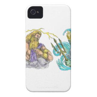 ZeusThunderbolt gegen Poseidon Trident Tätowierung Case-Mate iPhone 4 Hüllen