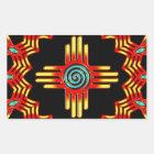 Zia Sonne - Zia Pueblo - New Mexico Rechteckiger Aufkleber