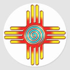 Zia Sun - Zia Pueblo - New Mexico Runder Aufkleber