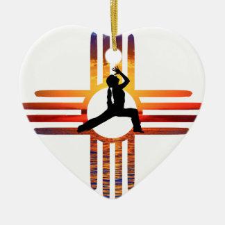 Zia-Yoga Keramik Herz-Ornament