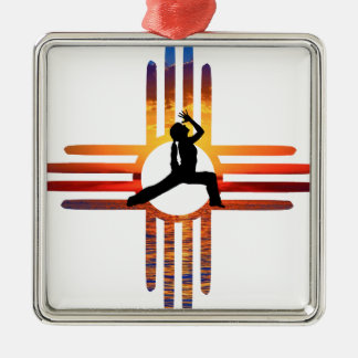 Zia-Yoga Silbernes Ornament