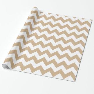 Zickzack 1 Sand Geschenkpapier