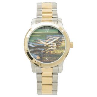Zickzack-aufgeteilte Schiene Armbanduhr