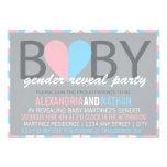 Zickzack Baby-Geschlecht decken Party Einladung