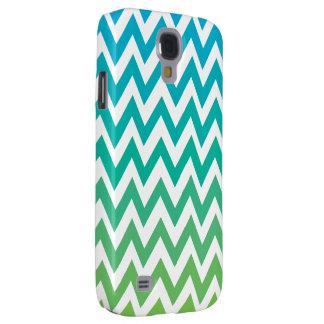 Zickzack blaues Grün Vintager Kasten Galaxy S4 Hülle