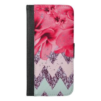 Zickzack Blüten II iPhone 6/6s Plus Geldbeutel Hülle