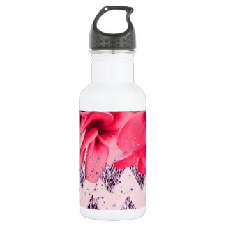 Zickzack Blüten II Trinkflasche