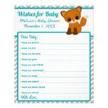 Zickzack Fox-Baby-Duschen-Wünsche für Baby-Rat