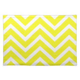 Zickzack gelbes weißes cooles Tischset