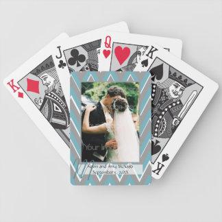 Zickzack gerahmtes Foto-Spielkarten Bicycle Spielkarten