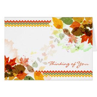 Zickzack Herbst-Herbstlaub, der an Sie denkt Karte